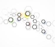 Fundo abstrato do negócio da tecnologia da fórmula química ilustração stock