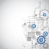 Fundo abstrato do negócio da tecnologia, ilustração do vetor Fotos de Stock