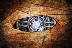 Fundo abstrato do olho do robô Fotos de Stock Royalty Free