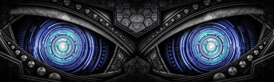 Fundo abstrato do olho do robô imagens de stock royalty free