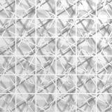 Fundo abstrato do papel de parede do quadrado branco Imagens de Stock