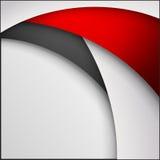 Fundo abstrato do papel vermelho, branco e preto do origâmi Ilustração do vetor Fotos de Stock Royalty Free
