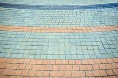 Fundo abstrato do pavimento do cobblestone foto de stock