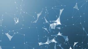 Fundo abstrato do plexo da geometria com partículas conectadas vídeos de arquivo