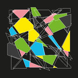 Fundo abstrato do polígono Imagens de Stock