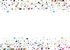 Fundo abstrato do ponto Projeto do ponto da ilustração do vetor círculo Foto de Stock
