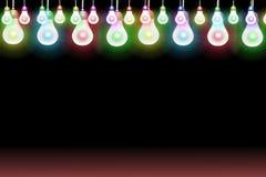 Fundo abstrato do projeto com luz de bulbo Fotos de Stock