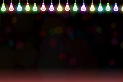 Fundo abstrato do projeto com luz de bulbo Fotografia de Stock Royalty Free