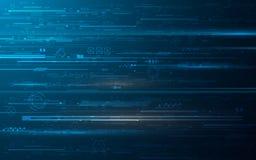 Fundo abstrato do projeto de conceito da inovação dos dígitos da tecnologia do hud ilustração do vetor