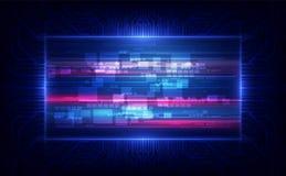Fundo abstrato do projeto de conceito da inovação da tecnologia digital do fi do sci Ilustra??o do vetor ilustração royalty free