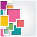 Fundo abstrato do quadrado 3d, telhas coloridas, geométricas, vetor Fotografia de Stock Royalty Free