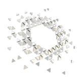 Fundo abstrato do quadro do hexágono do copyspace isolado Fotografia de Stock Royalty Free