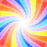 Fundo abstrato do redemoinho do arco-íris Imagens de Stock Royalty Free