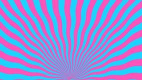 Fundo abstrato do rosa e das linhas azuis curvados ilustração stock