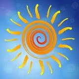 Fundo abstrato do sol ilustração do vetor
