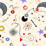 Fundo abstrato do surrealoist, formas coloridas extravagantes, teste padrão sem emenda 18-47 Imagem de Stock Royalty Free