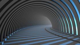 Fundo abstrato do túnel 3d Fotografia de Stock Royalty Free