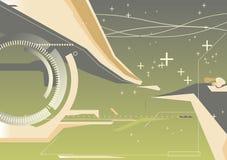 Fundo abstrato do techno ilustração stock