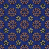 Fundo abstrato do teste padrão da esfera da cor da rendição 3d Foto de Stock Royalty Free