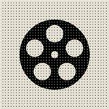 Fundo abstrato do teste padrão de ponto do filme e do filme Imagens de Stock