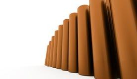Fundo abstrato do tubo rendido ilustração stock