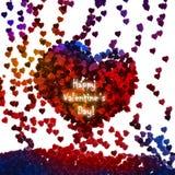 Fundo abstrato do Valentim com corações no branco ilustração royalty free