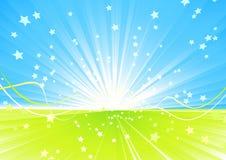 Fundo abstrato do verão. Imagens de Stock