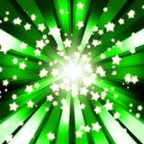 Fundo abstrato do verde da estrela da faísca Fotografia de Stock Royalty Free