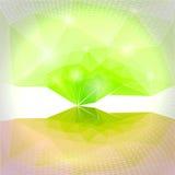 Fundo abstrato do verde do vetor Fotos de Stock Royalty Free