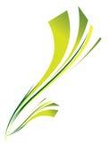 Fundo abstrato do verde no branco Imagem de Stock