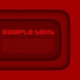 Fundo abstrato do vermelho 3d Foto de Stock Royalty Free