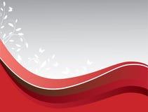 Fundo abstrato do vermelho no cinza Imagem de Stock Royalty Free