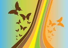 Fundo abstrato do vetor - borboleta Fotos de Stock Royalty Free