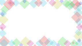 Fundo abstrato do vetor com formas do cubo imagem de stock
