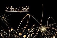 Fundo abstrato do vetor com gotas da pintura do ouro Projeto luxuoso com lugar para o texto Aperfeiçoe para o cartaz, inseto, ban Imagem de Stock
