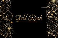 Fundo abstrato do vetor com gotas da pintura do ouro Projeto luxuoso com lugar para o texto Aperfeiçoe para o cartaz, inseto, ban Fotografia de Stock Royalty Free