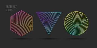 Fundo abstrato do vetor com ondas dinâmicas ilustração royalty free