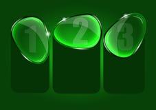 Fundo abstrato do vetor com três opções de vidro Imagens de Stock