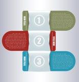Fundo abstrato do vetor com três posições Imagens de Stock
