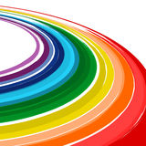 Fundo abstrato do vetor curvado da cor do arco-íris da arte Imagem de Stock