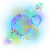 Fundo abstrato do vetor da bolha Fotografia de Stock