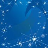 Fundo abstrato do vetor das estrelas ilustração royalty free