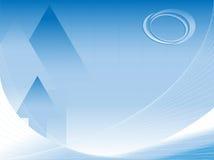 Fundo abstrato do vetor do negócio com logotipo Foto de Stock