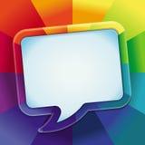 Fundo abstrato do vetor em cores do arco-íris Fotos de Stock