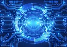 Fundo abstrato do vetor Estilo futurista da tecnologia ilustração royalty free