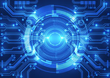 Fundo abstrato do vetor Estilo futurista da tecnologia Imagens de Stock