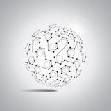 Fundo abstrato do vetor Estilo futurista da tecnologia Fundo elegante para apresentações da tecnologia do negócio ilustração do vetor