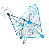 Fundo abstrato do vetor, forma dimensional isométrica ilustração stock
