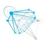 Fundo abstrato do vetor, forma dimensional isométrica Innovat ilustração do vetor