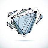 Fundo abstrato do vetor, forma dimensional isom?trica ilustração do vetor